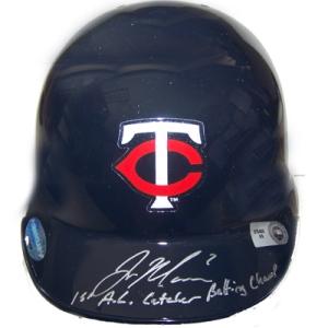 Joe Mauer Autographed Helmet